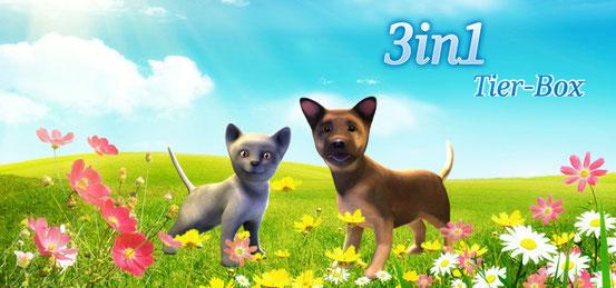 Header 3 in 1 Tier-Box: Meine Tierarztpraxis – Einsatz auf dem Land + Best Friends – Hunde & Katzen + Meine Tierpension 2