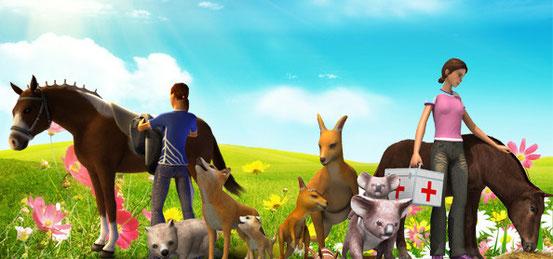 Header 3in1: Meine Tierarztpraxis + Riding Star 3 + Meine Tierarztpraxis in Australien