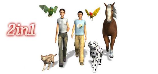 Header 2in1: Meine Tierschule + Mein Pferd