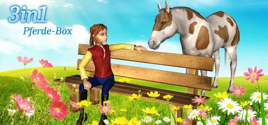 Header 3 in 1 Pferde-Box: Riding Star 3 + Lass uns reiten 2 + Mein Gestüt – Ein Leben für die Pferde