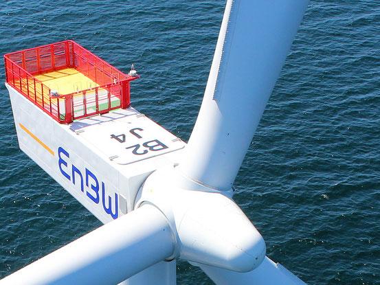 Inspektion Offshore Windrad mit Drohne auf der Ostsee und Nordsee