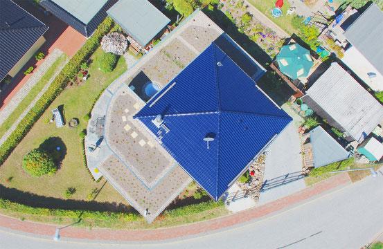 Luftaufnahme - Architektur mit der Drohne gesehen. Stralsund, Rügen