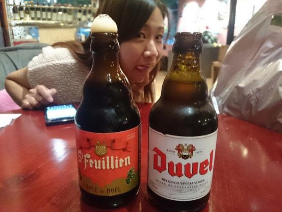 この日はコレがお得な20元ビール。