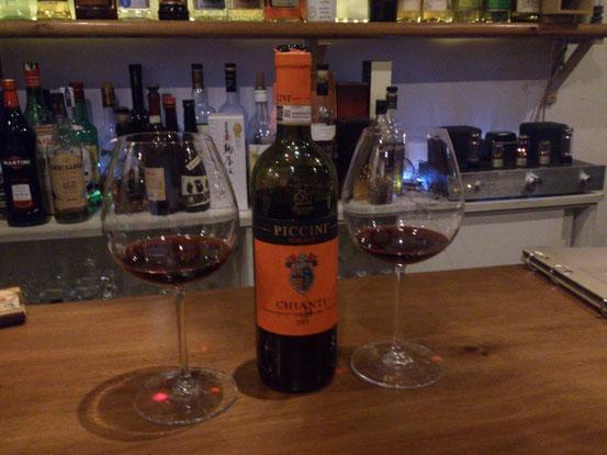 まずはワインからスタート。