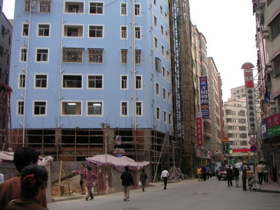 中国の建物は上から順番に下へというように作られていました。理屈で考えるといい部分もあるんですよね。