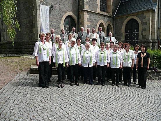 2009- Wir umrahmten einen Taufgottesdienst in der Kirche zu Brotterode/ in unserer Mitte Pfarrer M. von Frommanshausen / Quelle: H.u.L.Harms