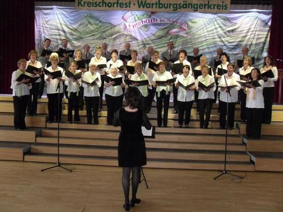 2010- KreisChorfest bei uns in Seebach/ Klubhaus / Quelle: H.u.L.Harms