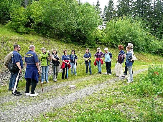 2009- Chorlager Brotterode/ Wanderung zum Mommelstein / Quelle: H. u. L. Harms