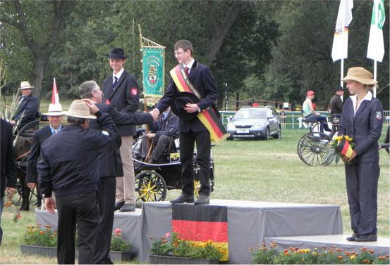 Sieger im Bundes-Jugendchampionat  U16 im Pony-Zweispänner