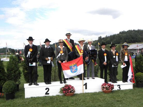 die U16 Einzel-Sieger, Tim Grober ganz links