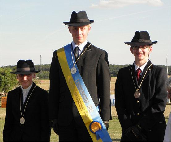 Landesmeister 2012 Viviane Quarch Silber, Florian Grober  Gold, Tim Grober Bronze