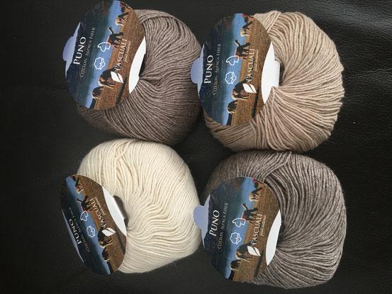 Pascuali, Puno, naturbelassen, ungefärbt, aus GOTS-zertifizierter Baumwolle und Alpaka