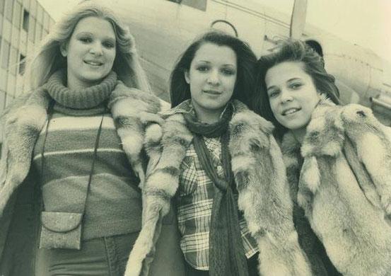 Andrea, Annette und Anke Schneider 1977: Abflug nach London zu Studioaufnahmen
