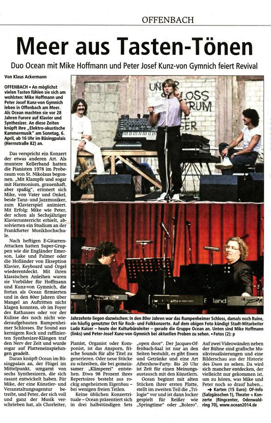 Offenbach Post, 29. März 2014