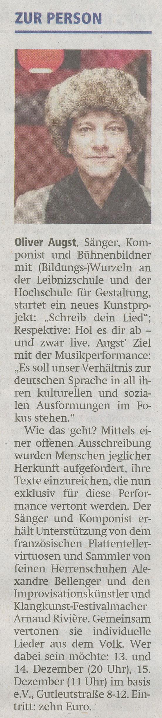 Offenbach Post, 7. Dezember 2019
