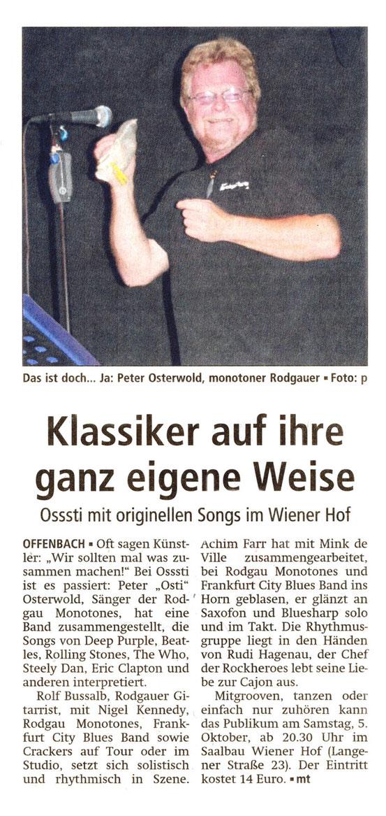 Offenbach Post, 3. Oktober 2013