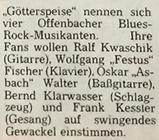 Quelle: Artikel Offenbach Post, 18. Oktober 1975