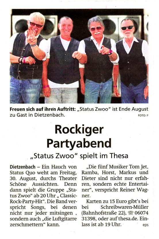 Artikel Offenbach Post, 12. August 2019
