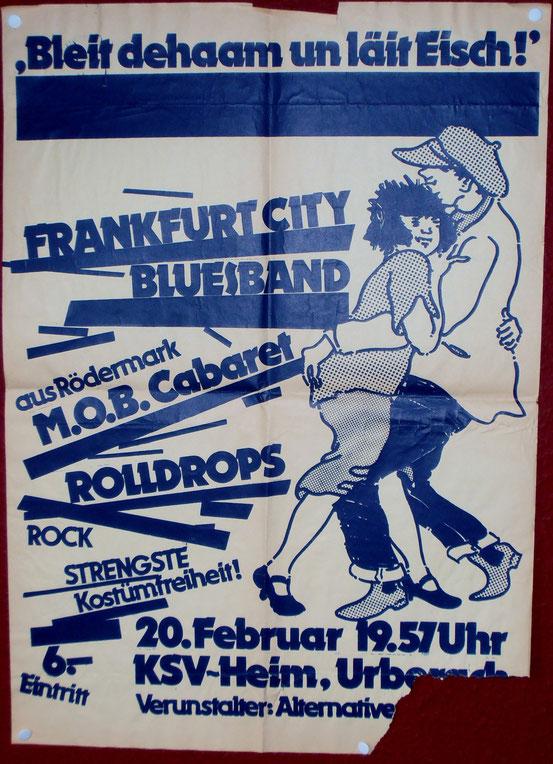 Konzertplakat 1981
