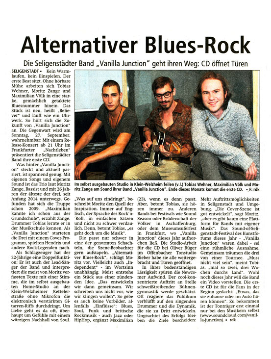 Offenbach Post, 12. September 2015