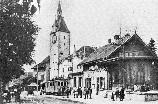 Bahnhof in Bremgarten - als wir noch Erstklässler waren sah er so aus.