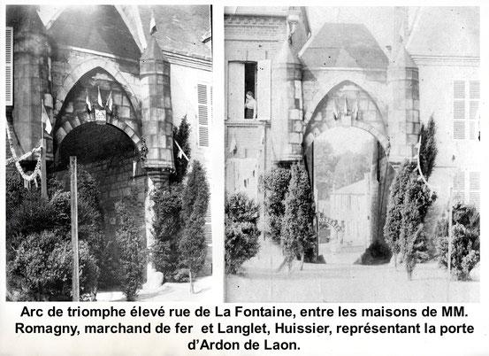 Cette reproduction de la Porte d'Ardon de Laon a été réalisée par mon grand-père, pour la fête de Jehanne d'Arc le 25 jullet 1909