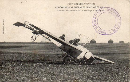 Montcornet-aviation , concours d'aéroplanes militaires 1911