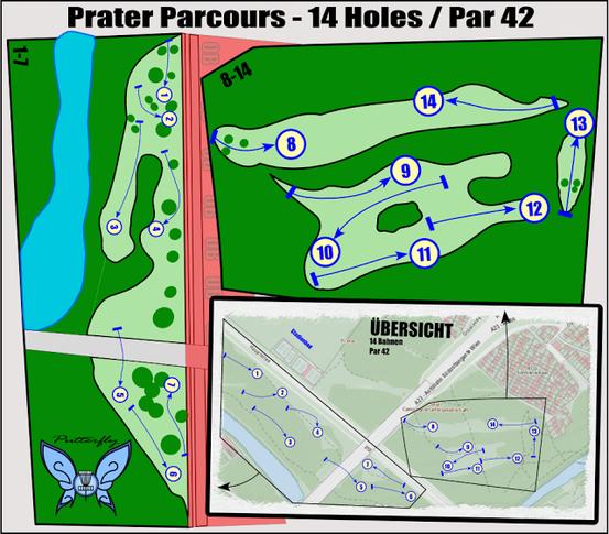 Prater Wien Disc Golf Parcours (Foto: Putterfly)