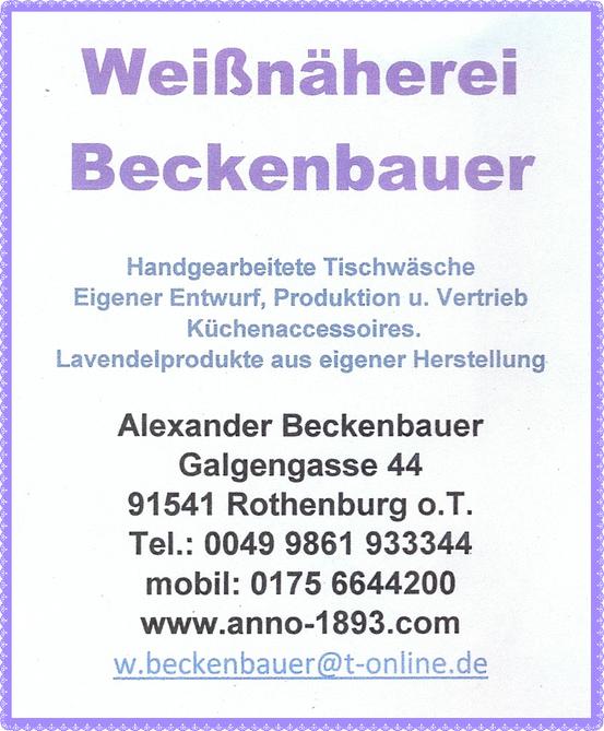 Diese Firma macht die Lavendelprodukte selbst. Das Lavendelöl wird nicht gepresst, sondern destilliert. Daher hinterlässt es auf den Textilien keine Flecken. Website: Klick auf den Flyer