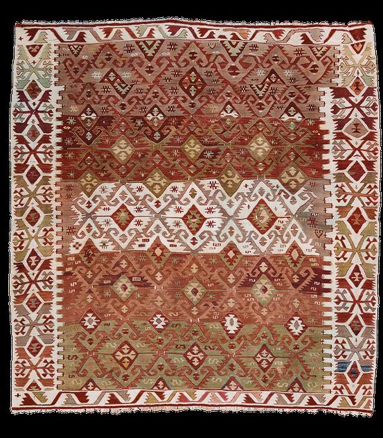 Teppich. Zürich. Vintage anatolian Kilim, probably a Shivrihisar. Handgewebter Teppich, Kelim aus Turkey.
