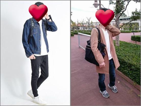 秋ディズニーへ行く時の男性ファッション