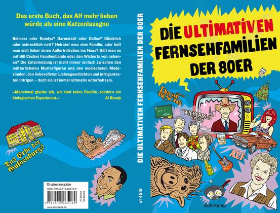 Suhrkamp Verlag Taschenbuch: Die ultimativen Fernsehfamilien der 80er. Illustrationen von Niels Schröder