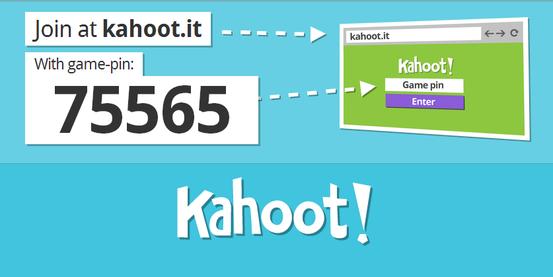 nauczyciel wybiera quiz i podaje pin gry z komputera - strona kahoot.com