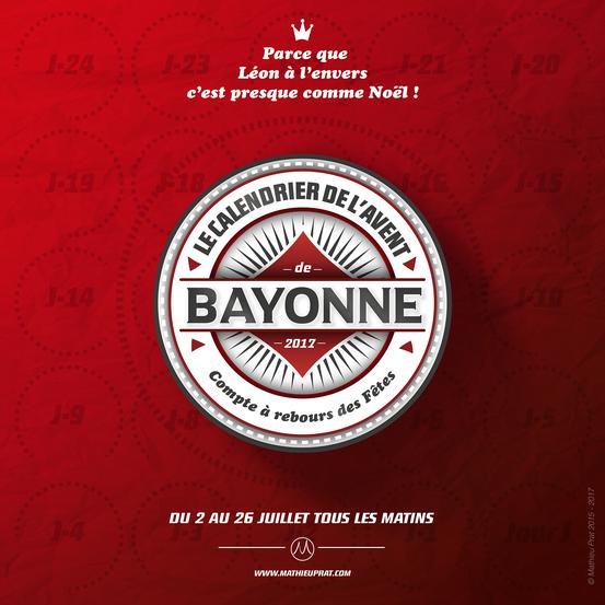 calendrier de l'avent  fêtes de Bayonne 2017 Mathieu Prat photographe et graphiste au pays basque