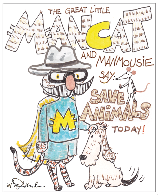 SAVE AMINALS TODAY! – der Erlangen-comicsalon-Sticker