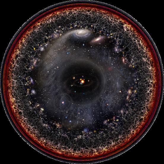 beobachtbares Universum (Bild: Pablo Carlos Budassi, CC-BY-SA 3.0)