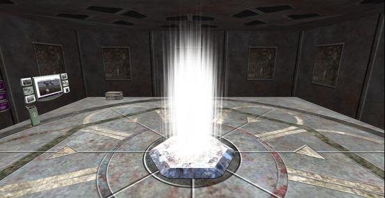 """Ein Asgard Transporter aus Stargate. Solche """"Teleportationsportale"""" sind, allem Anschein nach, ein Ding der Unmöglichkeit."""