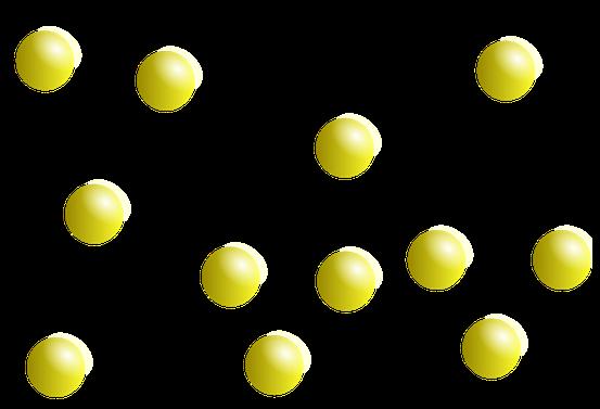 Teilchemodell eines Gases,