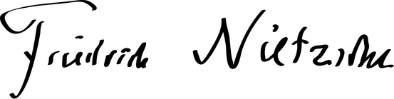 Unterschrift Friedrich Nietzsches