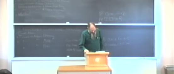 David Lewis bei einer Vorlesung.