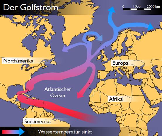 Schema des Golfstroms