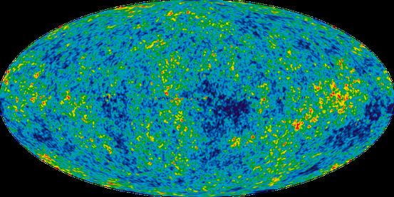 Genauere Messungen der Temperaturschwankungen in der Hintergrundstrahlung von der Raumsonde WMAP.