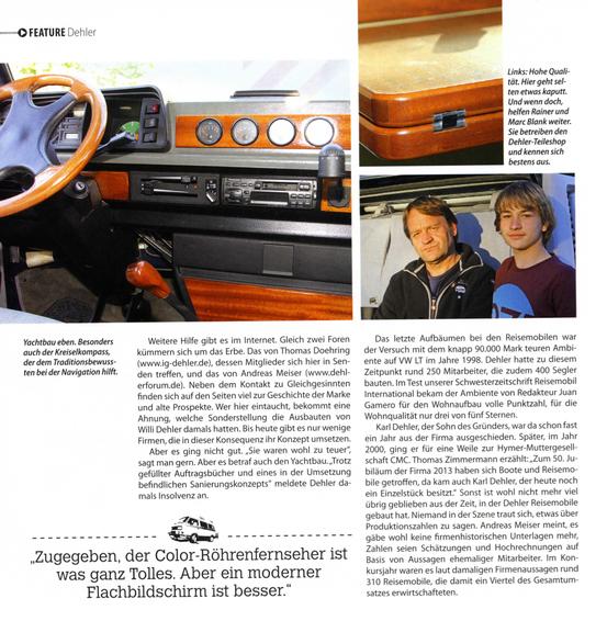 Aus der CamperVans Ausgabe 1/2014
