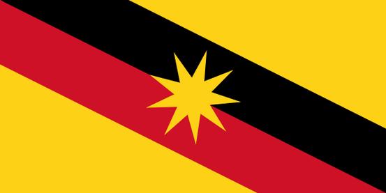 Die Flagge von Sarawak