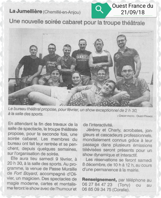 Ouest France 21-09-2018