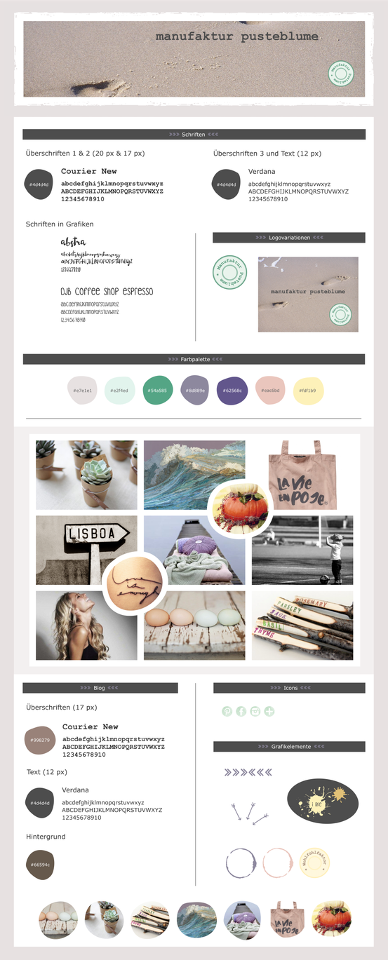 Blog Style Guide Manufaktur Pusteblume