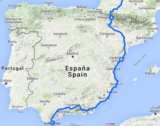Espagne 2200 km