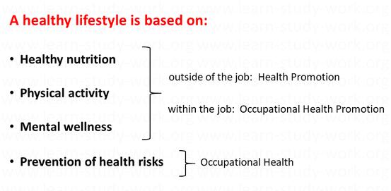 Healthy Lifstyle - Health Promotion - Ocuupational Health - www.learn-study-work.org
