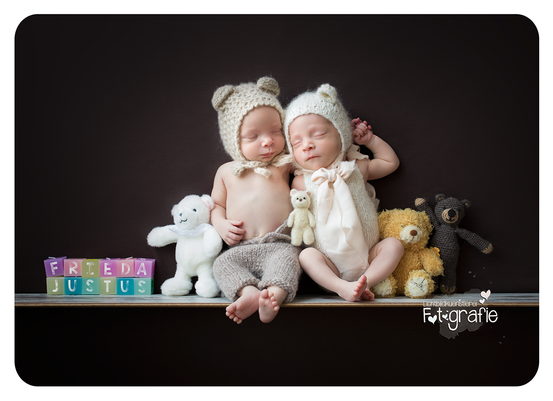 Zwillinge, Geburtsanzeige, Fotografie Zwickau, Babyfotos, Neugeborenenfotografie, Newborn, Anne Geddes