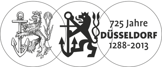 Der stilisierte Düsseldorfer Löwe